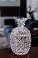 """6"""" Clear Diamond Cut Acrylic Pineapple Jar"""