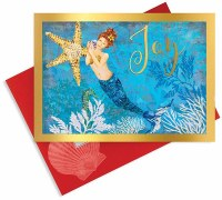 Box Of 16 Mermaid Joy Cards