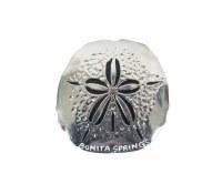 Bonita Springs Silver Metal Sand Dollar Magnet