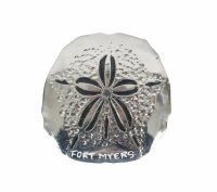 Fort Myers Silver Metal Sand Dollar