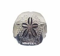 Naples Silver Metal Sand Dollar Magnet