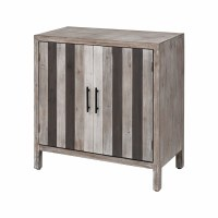 "32"" Gray Stripe 2 Door Cabinet"