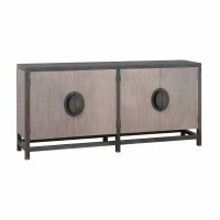 "72"" Light and Dark Gray 4 Door Cabinet"
