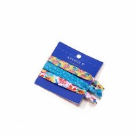 Set of 3 Assorted Hair Ties on Blue Card