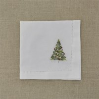"20"" Winter Berry Tree Emroidered Napkin"