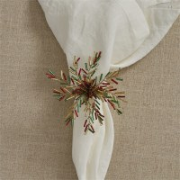 Red, Green and Gold Bead Starburst Napkin Ring