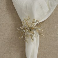 Silver and Gold Bead Starburst Napkin Ring