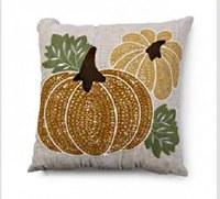 "16"" Square Pumpkin Pillow"