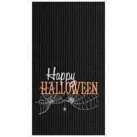 "18"" x 27"" Black Happy Halloweek Waffle Weave Kitchen Towel"