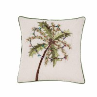 "16"" Square Christmas Palm Pillow"