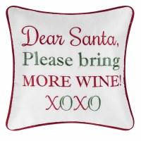 "10"" Square Santa Bring Wine Pillow"