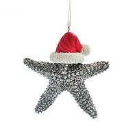 """5"""" Silver Starfish Ornament"""
