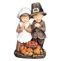 "6.5"" Pilgrim Couple Figurine"