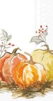 "8"" x 4"" Painted Pumpkin Guest Towel"