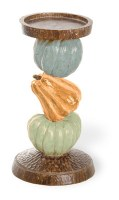 "8"" Multi Pastel Pumpkin Pillar Candle Holder"