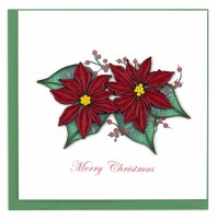 """6"""" x 6"""" Quilling Red Poinsetta Card"""