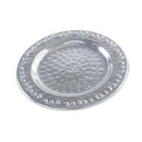 "5"" Round Aluminum Hammered Plate"