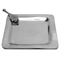 "8"" Square Aluminum Tennis Tray"