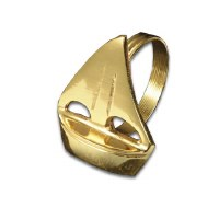 "2"" Gold Sailboat Napkin Ring"
