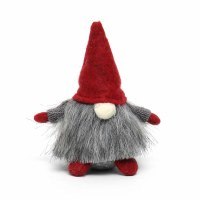 """5"""" Gray Hat Gnome With Gray Sweater"""