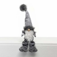 """14"""" Gray Shelf Sit Gnome With Baggy Pants"""