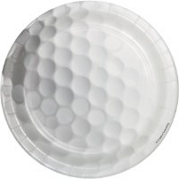 "Pack Of 8 7"" Round Golf Ball Plates"
