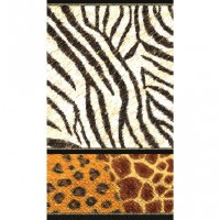 "8"" x 5"" Animal Print Guest Towel"