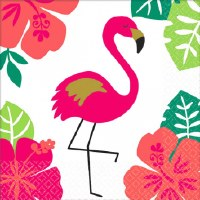 "5"" x 5"" Flamingo Beverage Napkin"
