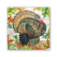 5 x 5 Fall Turkey Harvest Beverage Napkin