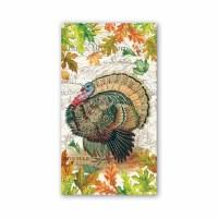 """4.4"""" x 7.9"""" Fall Turkey Harvest Guest Towel"""