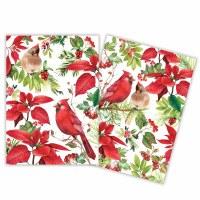 Set of 2 Poinsettia Kitchen Towels