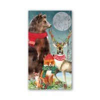 """4.4"""" x 7.9"""" Christmas Party Guest Towel"""