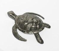 "9"" Silver Metal Sea Turtle"