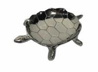 """13"""" Silver Metal Turtle Dish"""