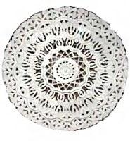 """48"""" Round White Openwork Medallion Wooden Wall Plaque"""