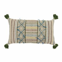 "14"" x 24"" Multicolored Tribal Pillow"