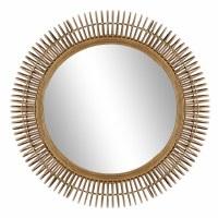 """32"""" Round Rattan Mirror"""