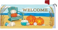"17"" x 6.5"" Beach Pumpkins Welcome Mailbox Wrap"