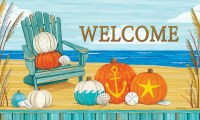 "30"" x 18"" Beach Pumpkins Welcome Door Mat"