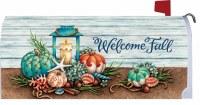 "17"" x 6.5"" Coastal Welcome Fall Mailbox Wrap"