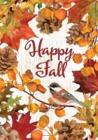 """40"""" x 24"""" Happy Fall Leaves Flag"""