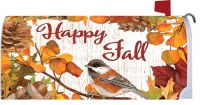 "17"" x 6.5"" Happy Fall Leabes Mailbox Wrap"