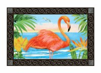 "30"" x 18"" Flamingo Beach Doormat"