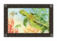 "30"" x 18"" Green Sea Turtle Doormat"