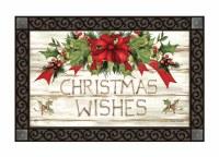 """30"""" x 18"""" Christmas Wishes Doormat"""
