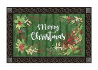 """30"""" x 18"""" Winterberry Christmas Doormat"""