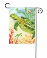 "18"" x 13"" Mini Green Sea Turtle Garden Flag"