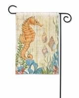 "18"" x 13"" Mini Seahorse Garden Flag"