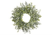 """4.5"""" Green and Gray Eucalyptus Candle Ring"""