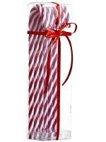 """Box of 6  11"""" Red and White Candy Cane Ornaments"""
